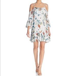 🆕 Elan Botanical-Print Cold-Shoulder Dress
